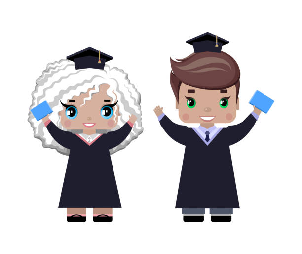 Royalty Free Silhouette Of A Baby Graduation Cap Clip Art, Vector ...