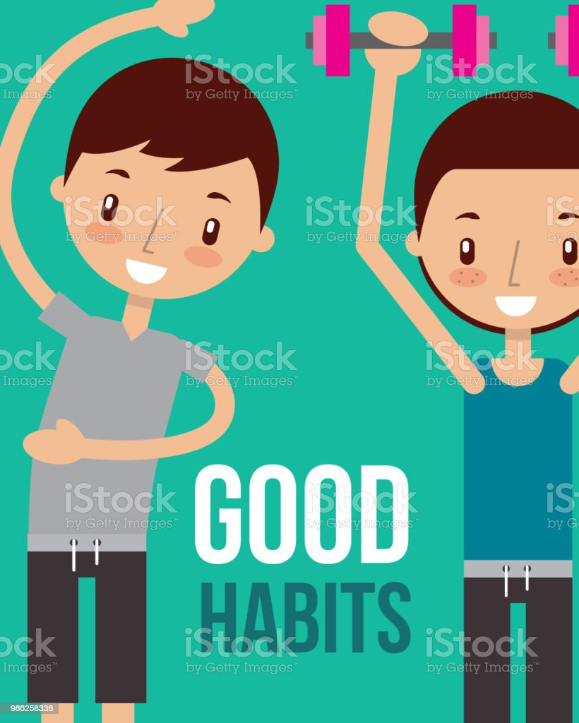 Boy And Girl Healthy Good Habits Stock Vector Art  More -3823