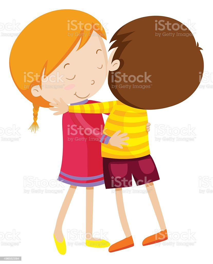 royalty free kids hugging clip art vector images illustrations rh istockphoto com big hug clipart hug clipart animated