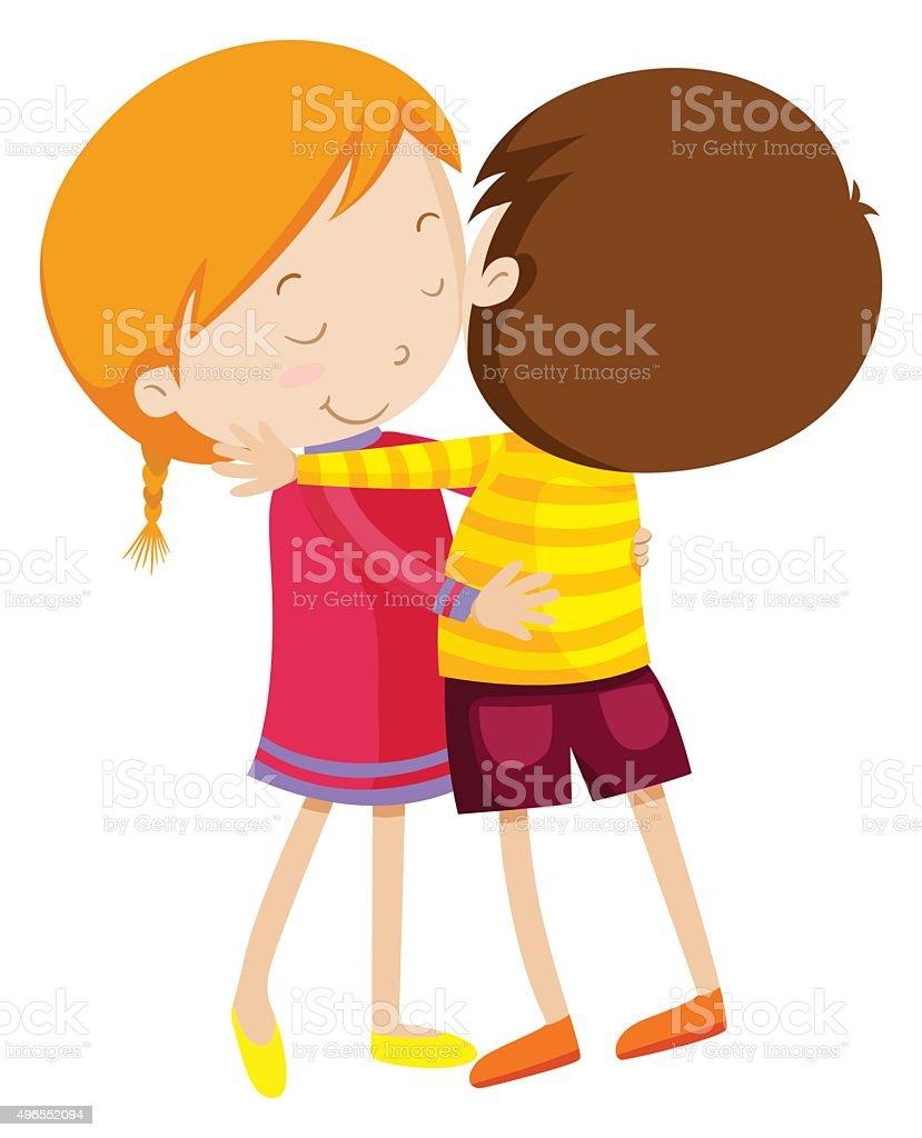 royalty free kids hugging clip art vector images illustrations rh istockphoto com hug clipart black and white hug clipart images
