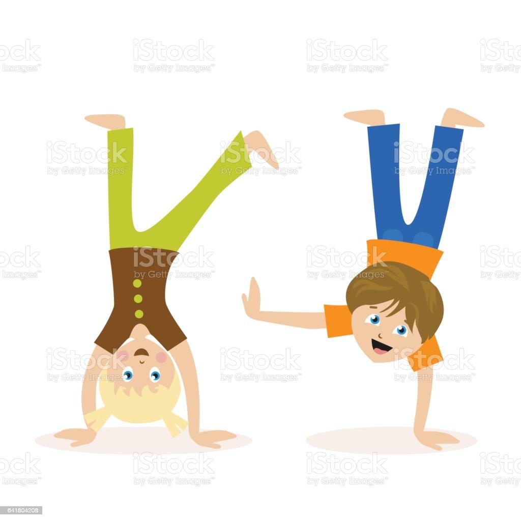 royalty free handstand clip art vector images illustrations istock rh istockphoto com