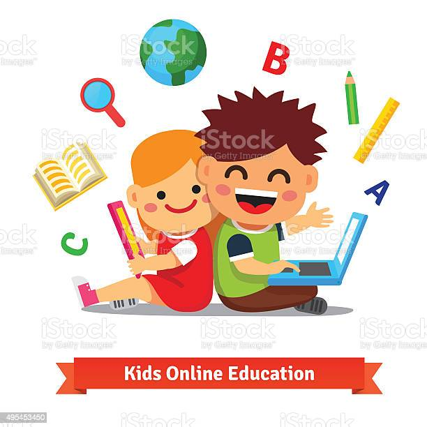 Boy and girl studying together with laptop vector id495453450?b=1&k=6&m=495453450&s=612x612&h=o48pdgglyfnp1obuto jt7qqotex6fn45zz0yk1vozq=