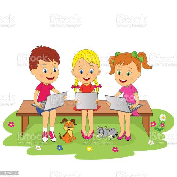 Boy and girls are sitting the bench with laptop vector id657572120?b=1&k=6&m=657572120&s=612x612&h=uyto1xztbsgvp tef3uka4l6a8xcv5q4yviqoljqks0=