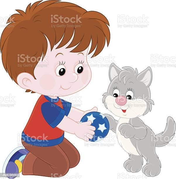 Boy and kitten vector id456098665?b=1&k=6&m=456098665&s=612x612&h=dyegcijlljzw0n ycbfxjjzyh0 qql2lmws0ensd24g=