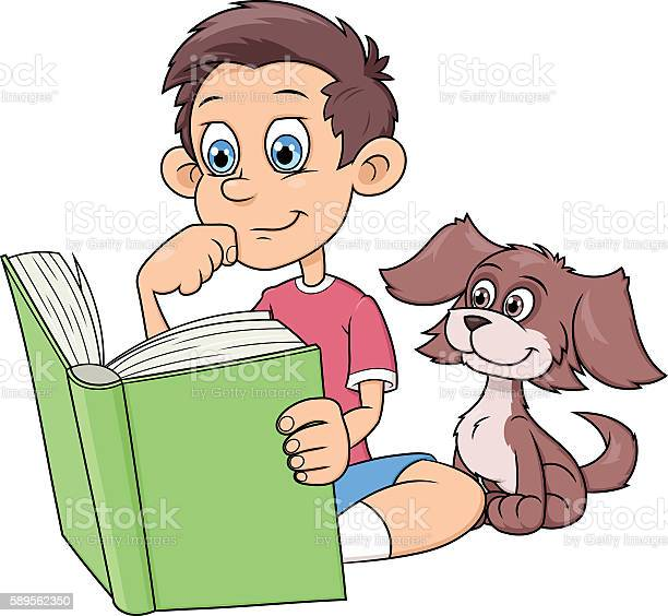 Boy and puppy reading a book vector id589562350?b=1&k=6&m=589562350&s=612x612&h=x7gt4zn2wr4ycyw zxbpwnskobkmahz7cm2yr7fujo8=