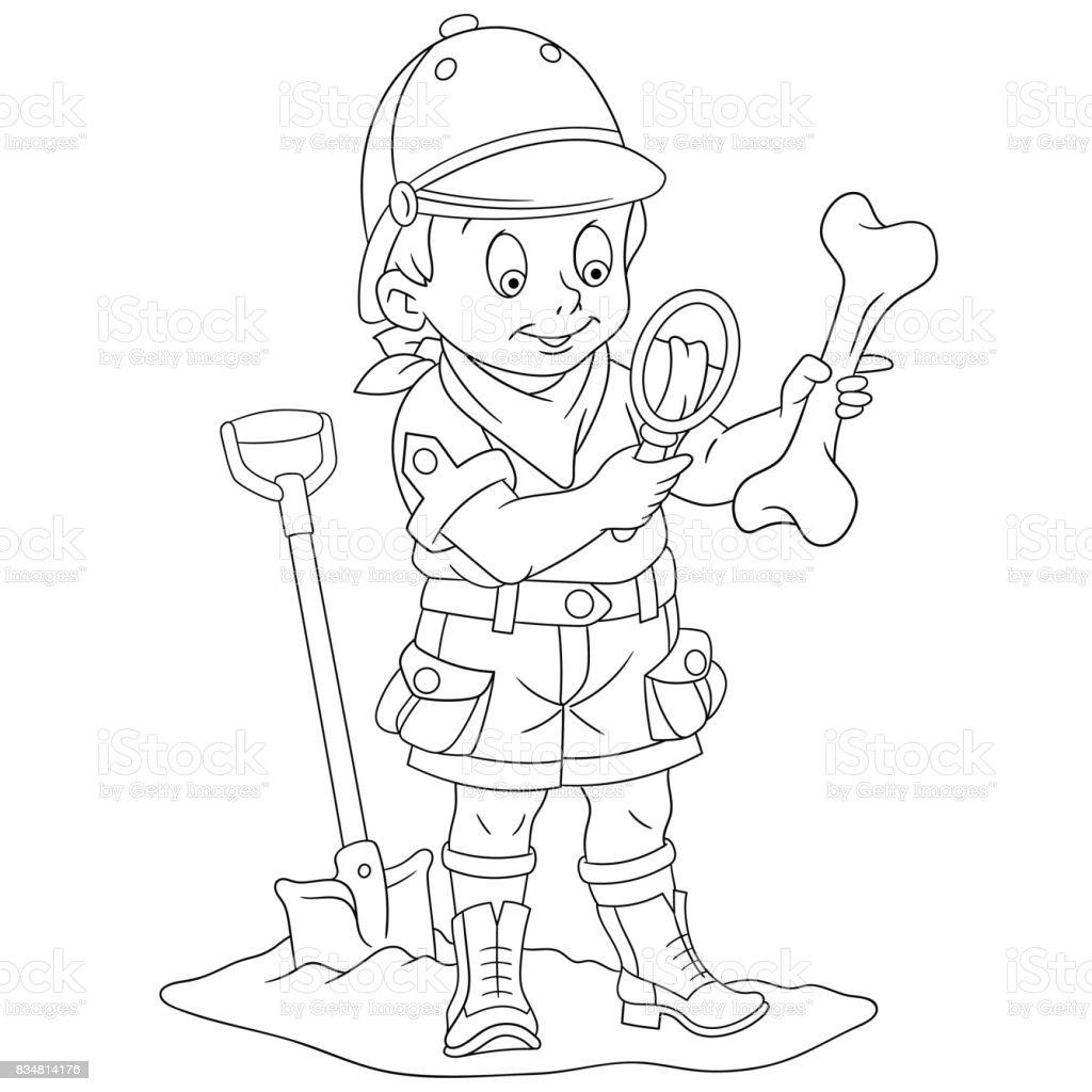 Ilustración de Explorador Arqueológico Boy y más banco de imágenes ...