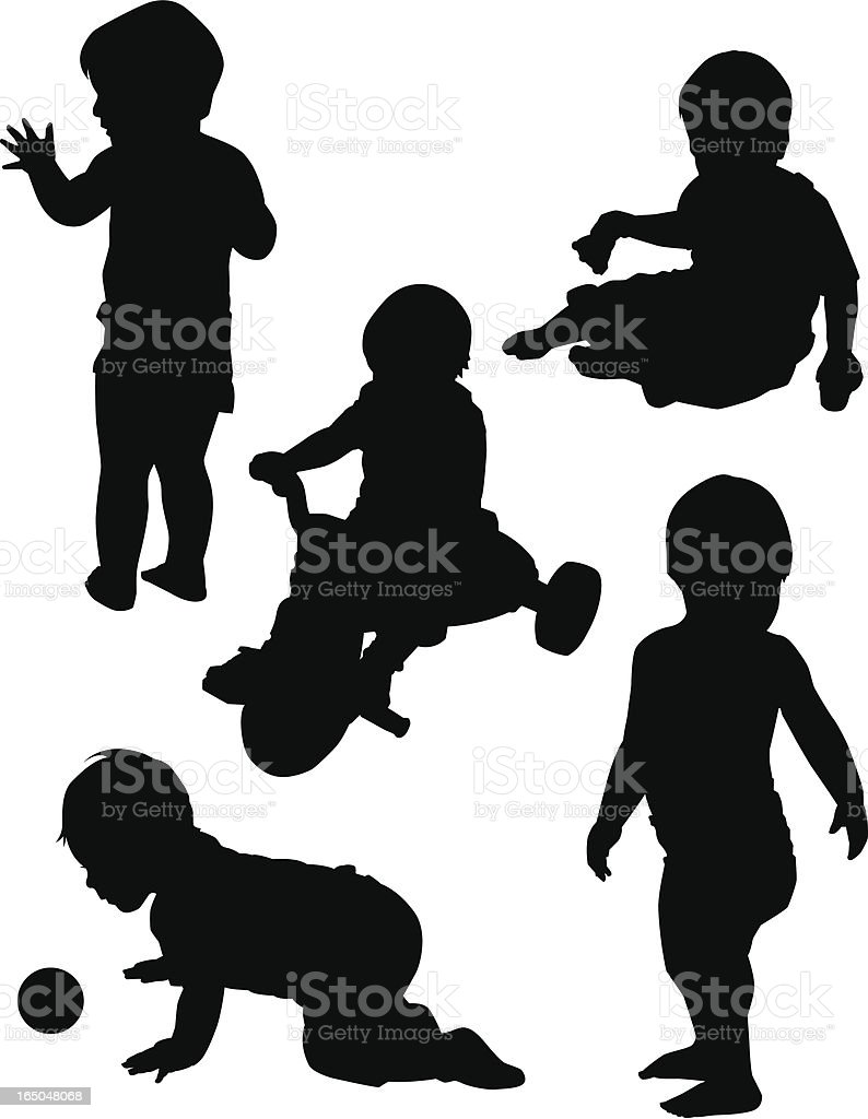 Boy at Play vector art illustration