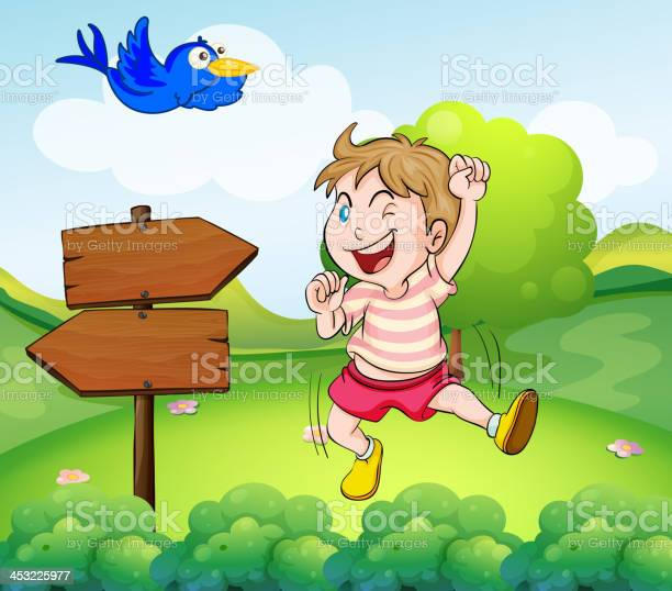 Boy beside a wooden arrow and the blue bird vector id453225977?b=1&k=6&m=453225977&s=612x612&h=eumqszxqw4rmcljvgrfivbfkpwm1fldxvsy3qg4dsru=