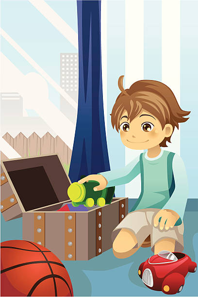 Cleaning Up Toys Illustrations, Royalty-Free Vector ...