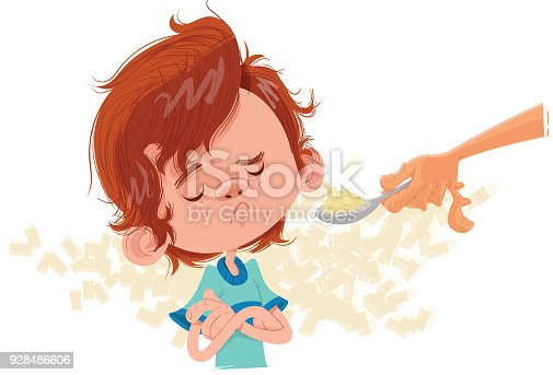 istock Boy doesn't want to eat 928486606