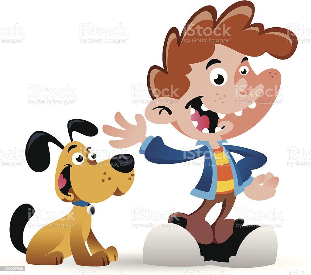 Boy Dog royalty-free boy dog stock vector art & more images of boys