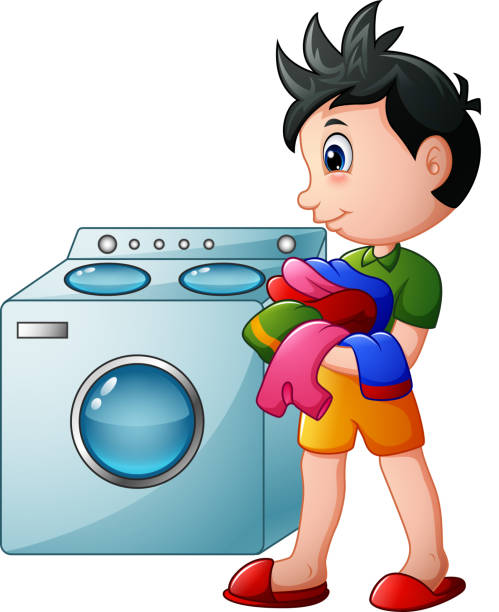 Royalty Free Man Laundry Clip Art, Vector Images ...