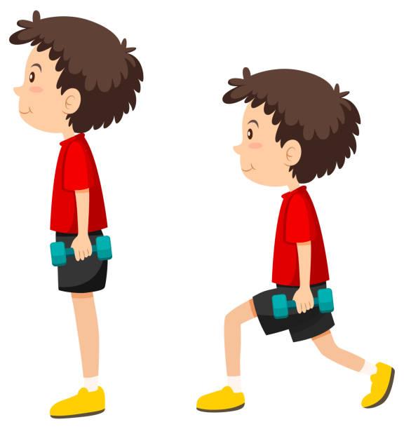 Junge spezialzaum Übung – Vektorgrafik