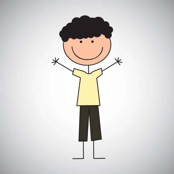 illustrations, cliparts, dessins animés et icônes de petit garçon dessiner - enfants de bande dessinée