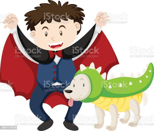 Boy dressed as vampire and dog as dinosaur vector id654147616?b=1&k=6&m=654147616&s=612x612&h=jq32399la3g7sogq18tfupbeq4dly3lxkc3t03svpng=