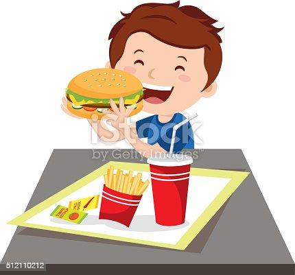 istock Boy eating fast food 512110212