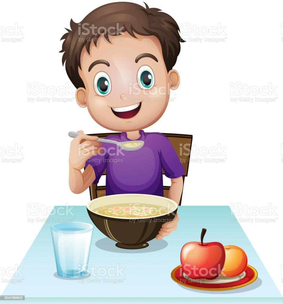 royalty free boy at breakfast clip art vector images rh istockphoto com breakfast clipart free breakfast clip art pictures