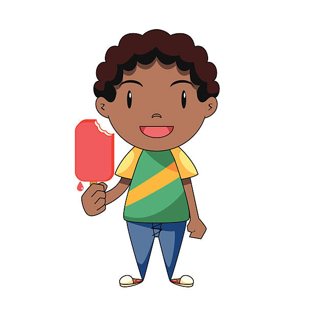 Royalty Free Eating Popsicle Clip Art, Vector Images ...