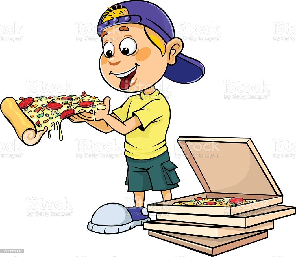 top 60 eating pizza clip art vector graphics and