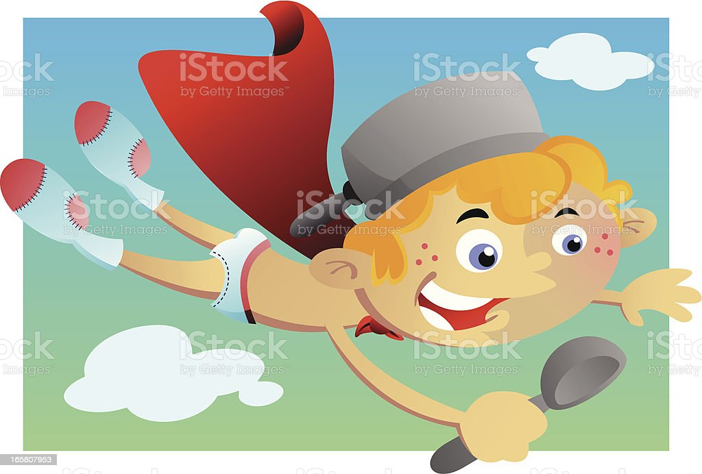 Boy Flying in Underpants royalty-free boy flying in underpants stock vector art & more images of boys