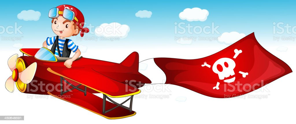 boy flying plane royalty-free boy flying plane stock vector art & more images of adult