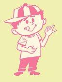 Boy Gesturing OK