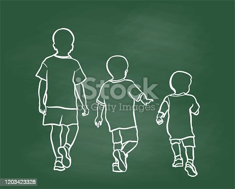 istock Boy Growing Up Chalkboard 1203423328
