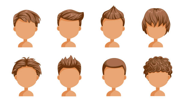 Curly Hair Boy Illustrations, Royalty-Free Vector Graphics ...