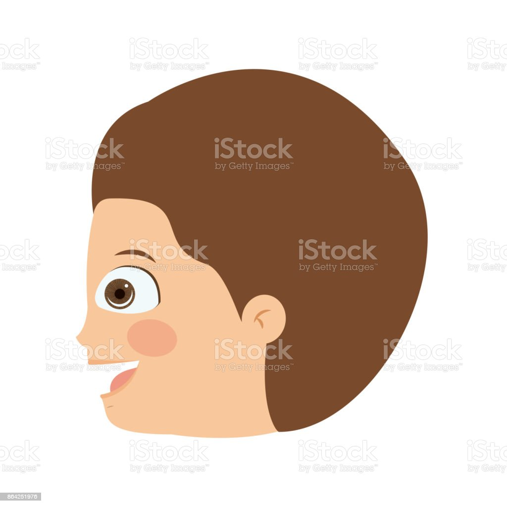 boy head profile isolated icon design royalty-free boy head profile isolated icon design stock vector art & more images of adult