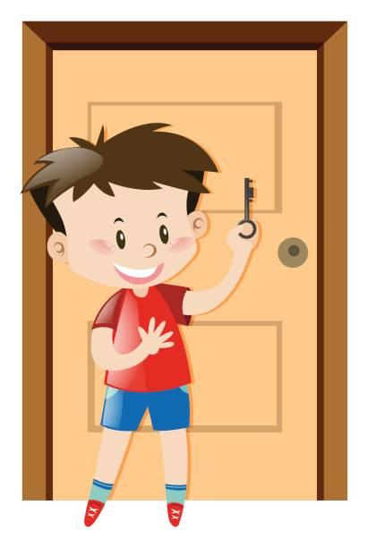 Best Boy Open Door Illustrations, Royalty-Free Vector ...