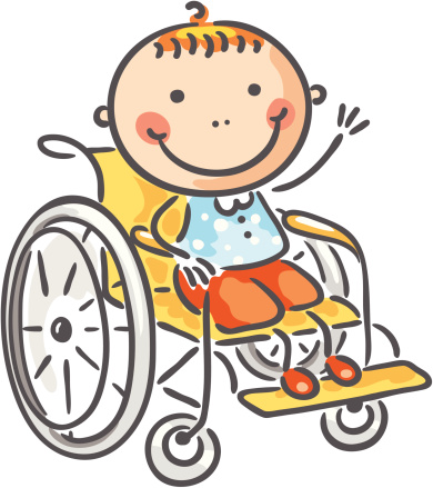 Boy in a wheelchair