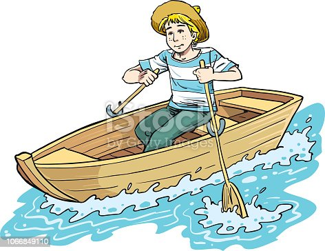 boy in the boat