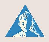Boy in Triangle