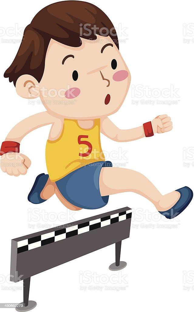 boy jumping hurdle royalty-free boy jumping hurdle stock vector art & more images of activity