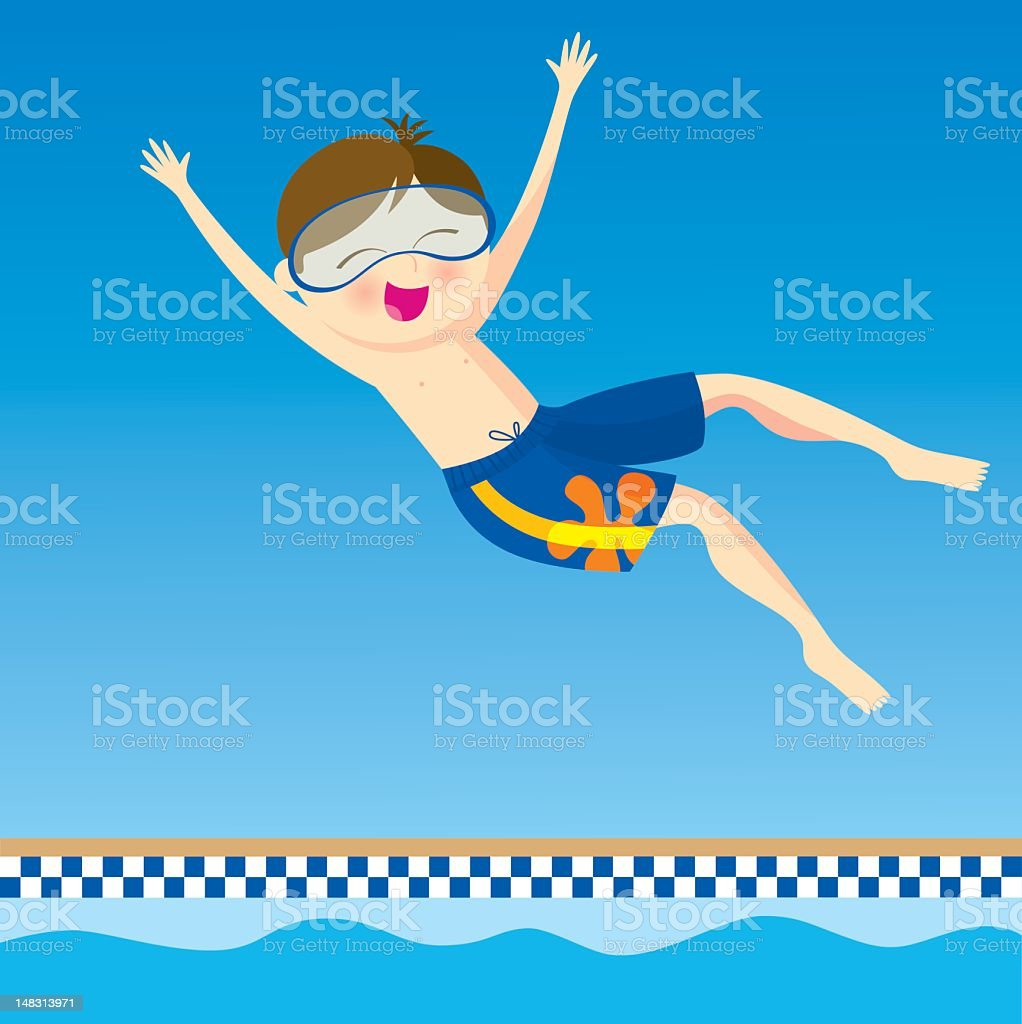 boy jumping into swimming pool royalty-free boy jumping into swimming pool stock vector art & more images of boys