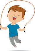 istock Boy jumping rope 599755680