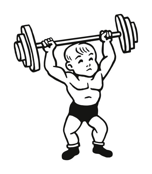 Strong Toddler Illustrations, Royalty-Free Vector Graphics