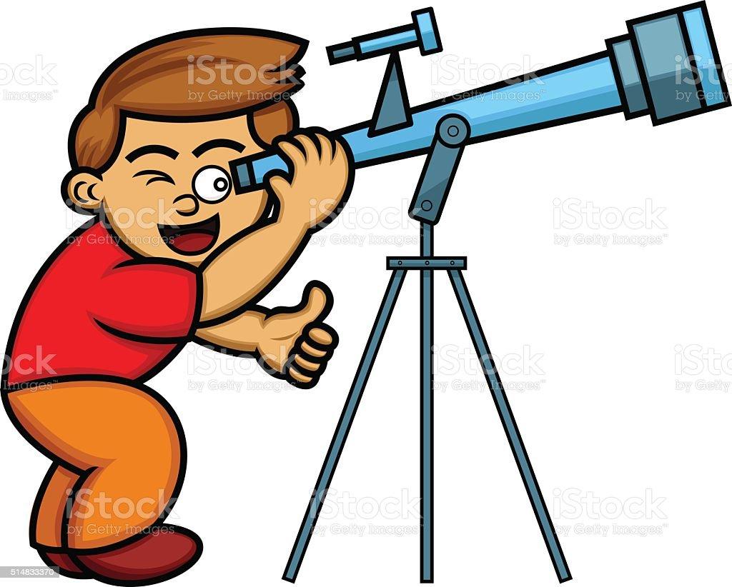royalty free astronomer telescope clip art vector images rh istockphoto com astronomy clipart free astronomy clipartof