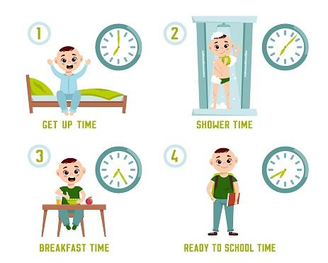Boy morning routine