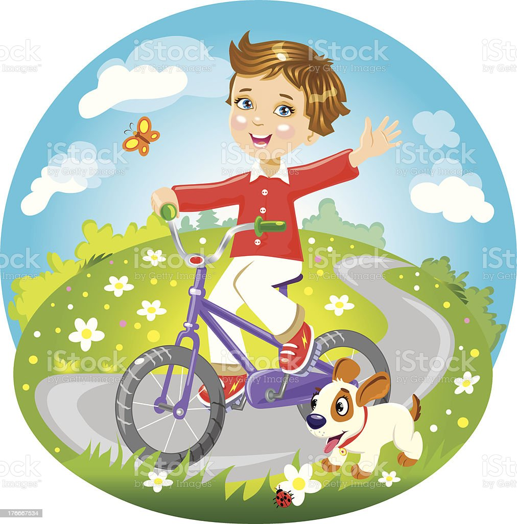 boy on bike royalty-free boy on bike stock vector art & more images of animal