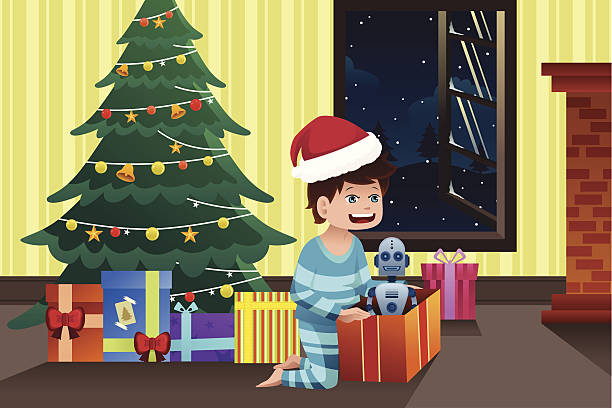 Kids Opening Presents Illustrations, Royalty-Free Vector ...