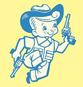 Boy Playing Cowboy