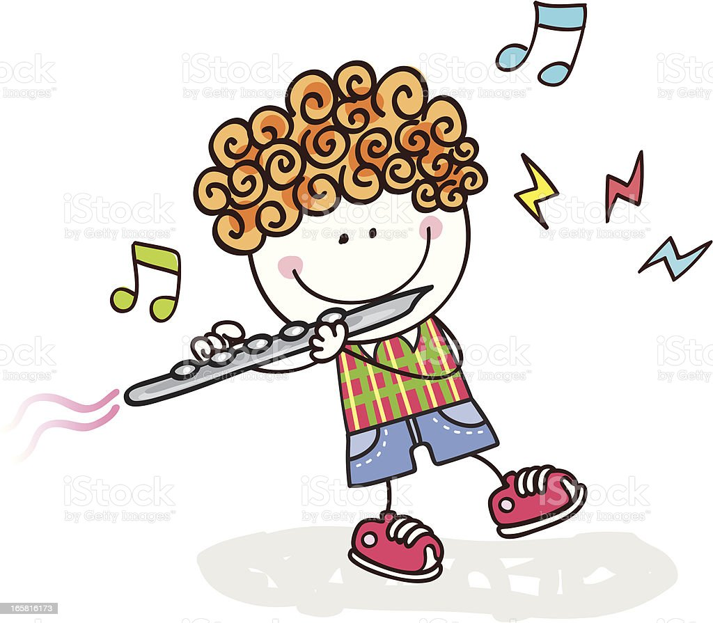boy playing flute royalty-free boy playing flute stock vector art & more images of adult