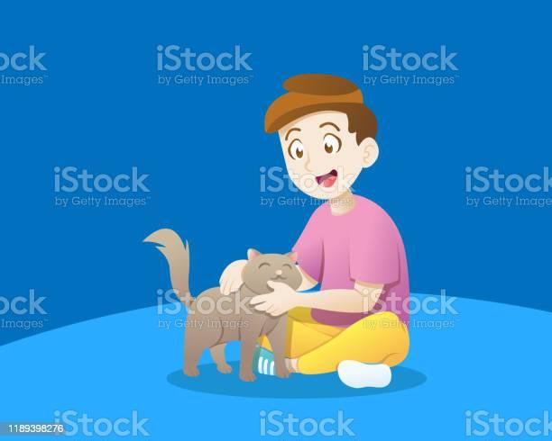 Boy playing with a cat vector id1189398276?b=1&k=6&m=1189398276&s=612x612&h=wpkdeybews4qot23xivhiov2akahilisnpptyv6hjo4=
