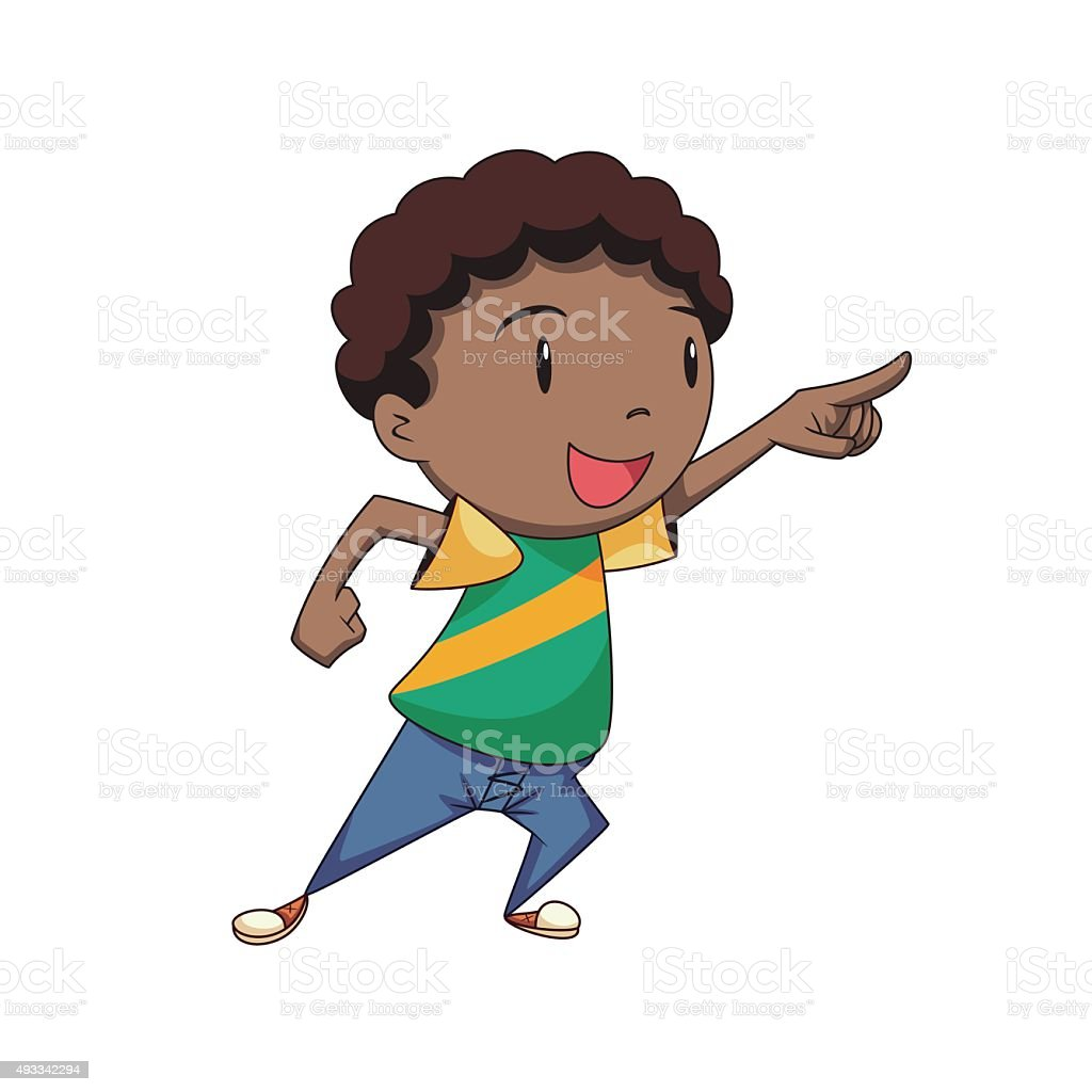 royalty free boy pointing clip art vector images illustrations rh istockphoto com painting clip art images pointing clipart black and white