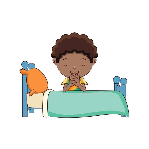 小男孩祈禱床 - prayer 幅插畫檔、美工圖案、卡通及圖標