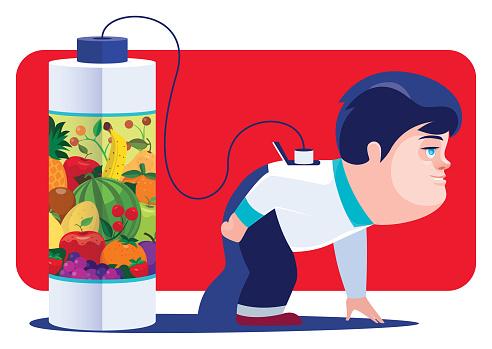 boy refuelling healthy energy