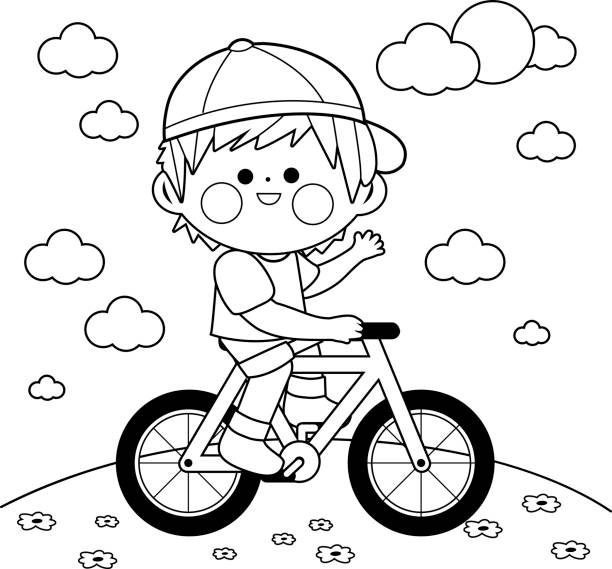 Black And White Coloring Book Page Vector Art