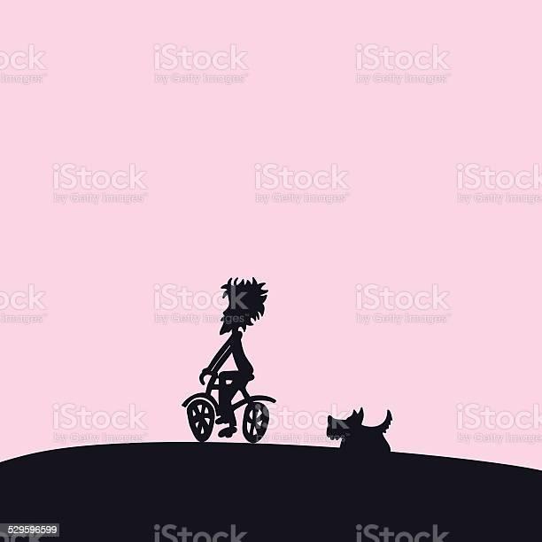 Boy riding bike with running dog silhouette background vector id529596599?b=1&k=6&m=529596599&s=612x612&h=jr6lzlcdohuuzemptdiqikbilge3v4w3nmobguimln8=