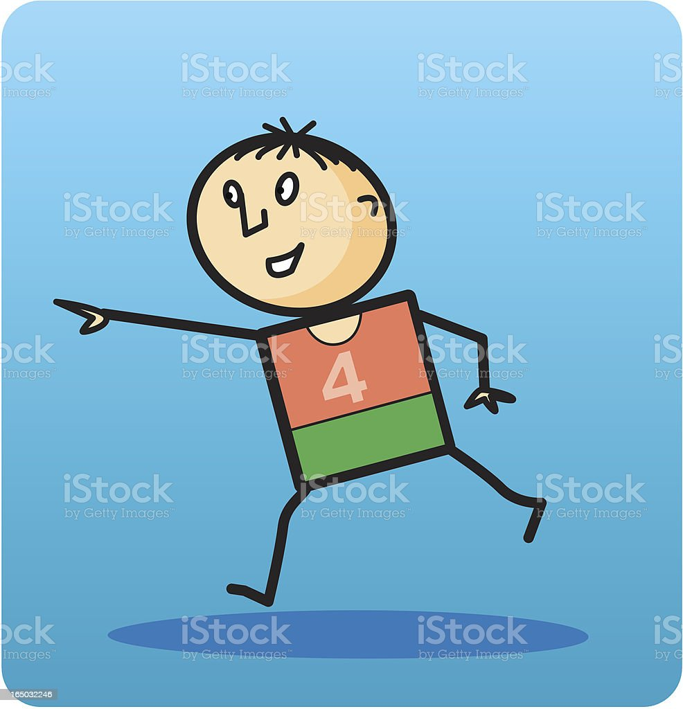 Boy Running royalty-free stock vector art